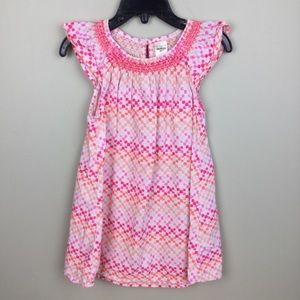 Oshkosh girls summer dress sz 3T pinks /oranges